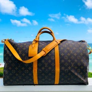 Louis Vuitton Keepall Luggage Bandouliere 55CM bag shoulder strap carry on gym
